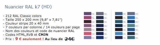 Nuancier ral - Code couleur gris ...