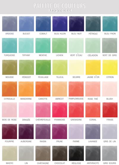 Les couleurs - Palette de couleur html ...